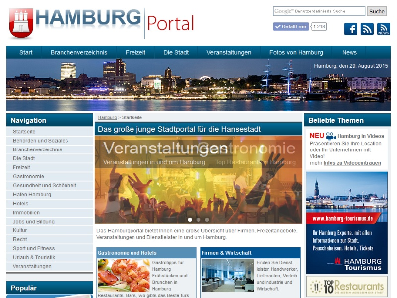 hamburgportal das junge unabh ngige stadtportal f r hamburg. Black Bedroom Furniture Sets. Home Design Ideas